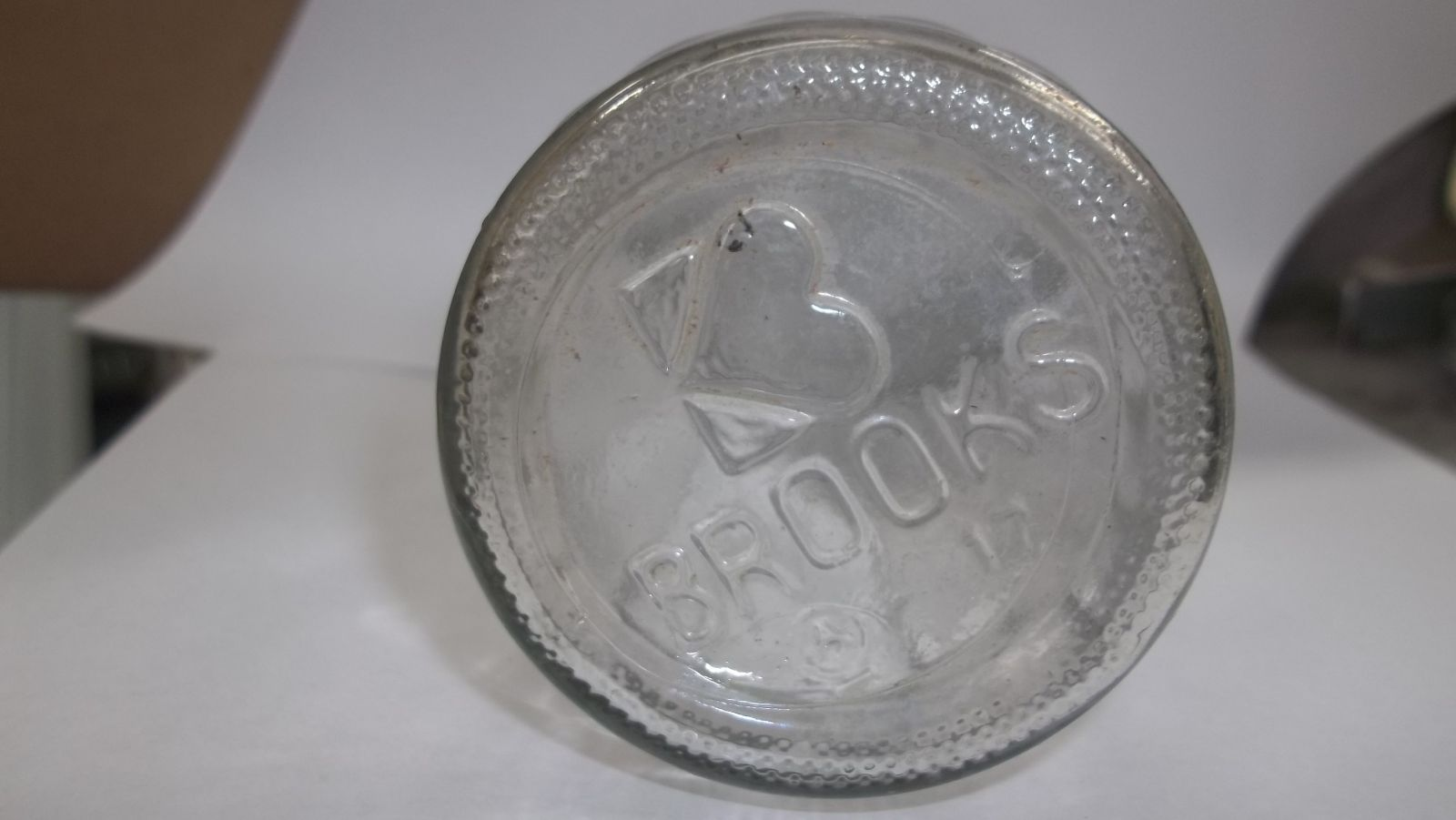 Vintage Brooks Catsup Bottle Bottom