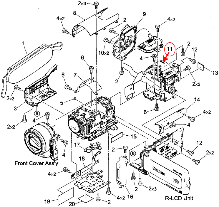 how to repair a canon vixia camera black screen issue tomorrow s rh tomorrowsgarden net Automotive Wiring Schematics Wiring Schematic Symbols Chart