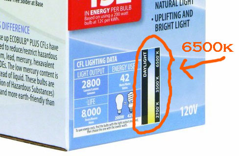 CFL Grow Light Color Temperature
